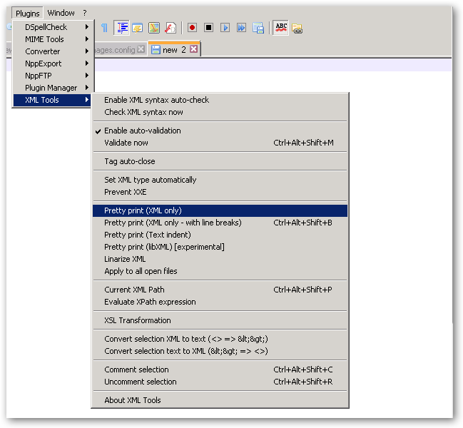 Notepad++ and XML Editing | Learning in the Open