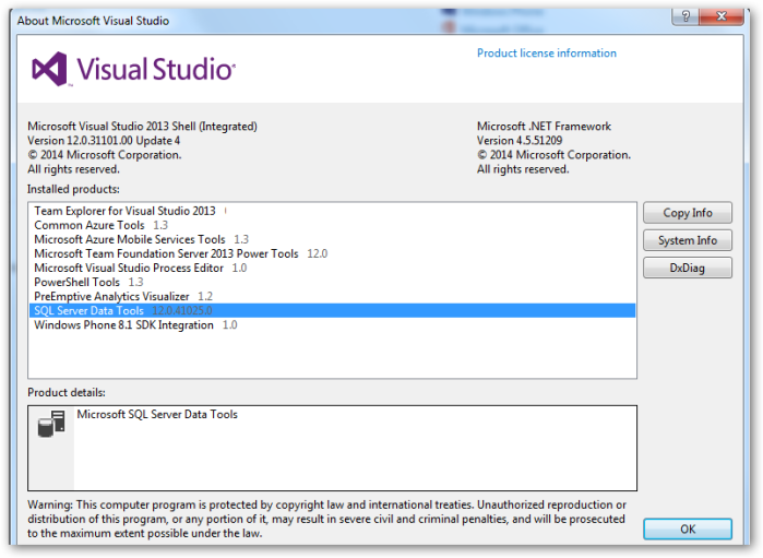 VisualStudio2013Shell