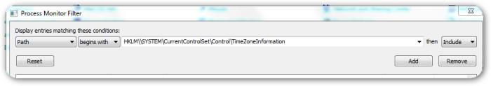 HKEY-LocalMachine-Control-TimezoneInformation