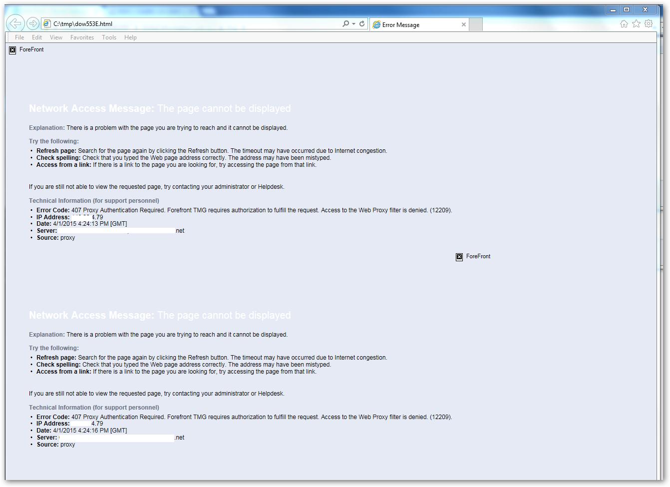 Visual studio error: (407: proxy authentication required) - stack