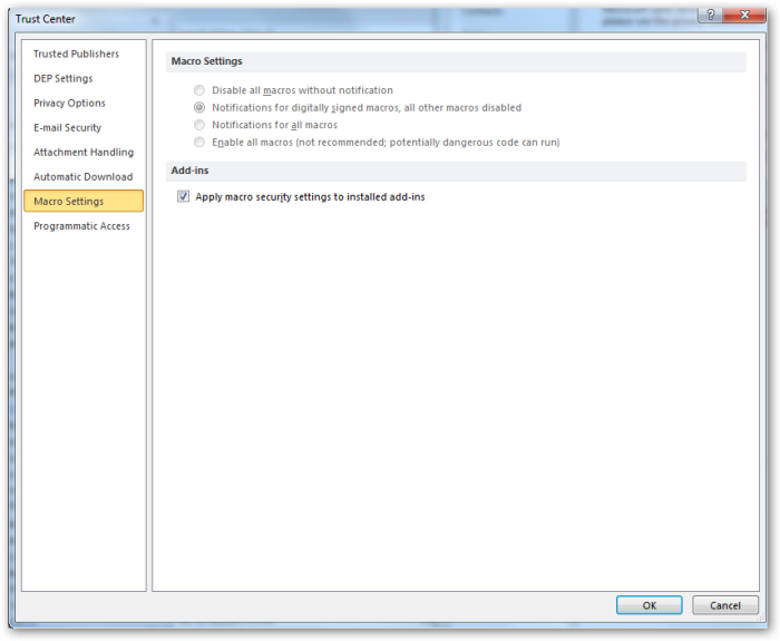 Outlook-TrustCenter-MacroSettings-ApplyMacroSettingsToInstallAddIns