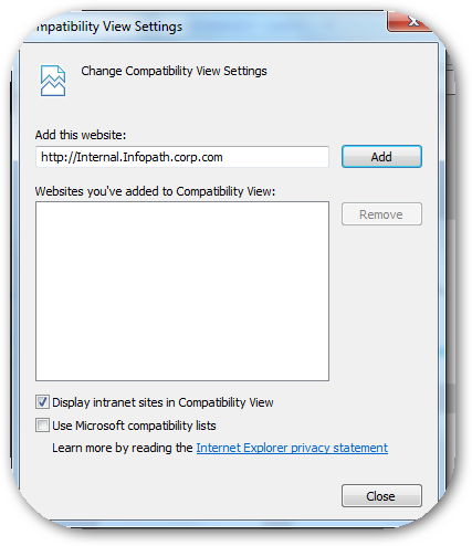 ChangeCompatibilityViewSettings