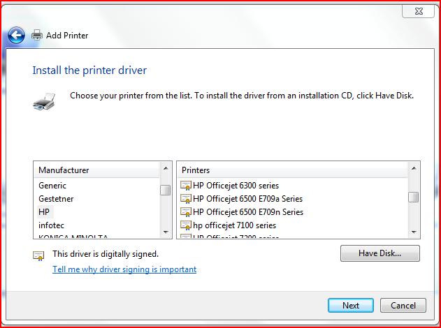 AddPrinter-InstallThePrinterDriver