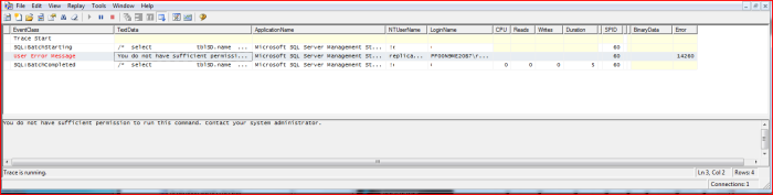 SQLServerProfiler-ErrorMessage