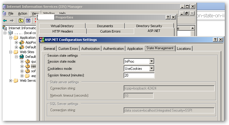 IIS – ASP & ASP Net – Session State Management – In Process