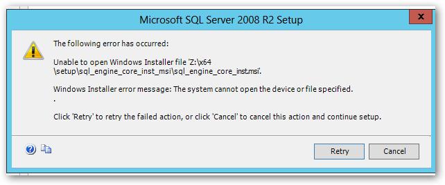 Sql_engine_core_inst msi Error