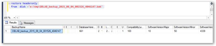 SQLServerFromBackupfile