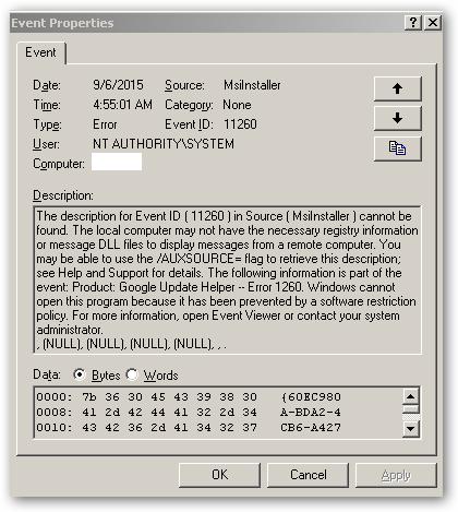 error 1260