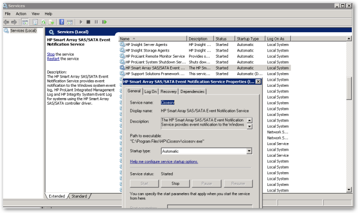 HPSmartArraySAS-SATAEventNotificationService