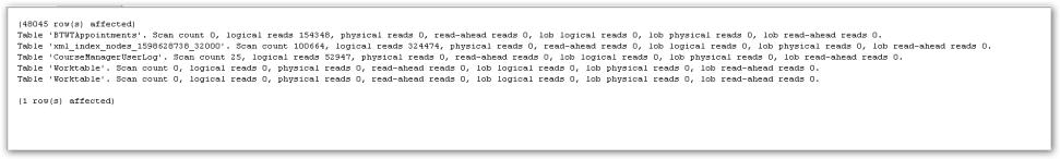 XMLIndexMain-StatisticsIO
