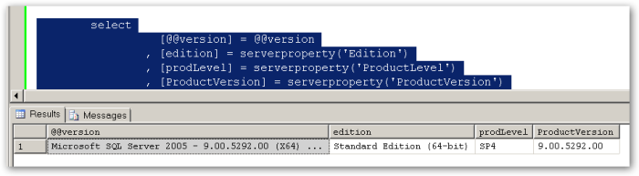 SQLVersion-NotExperienced