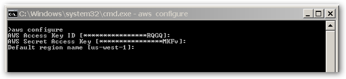 aws configure - 20160426 - 0658PM
