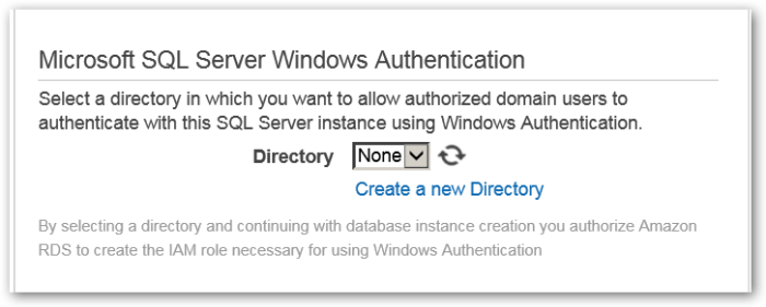 ConfigureAdvancedSettings - Microsoft SQL Server Windows Authentication