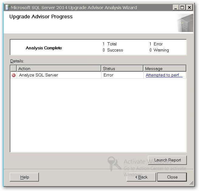 UpgradeAdvisorProgress