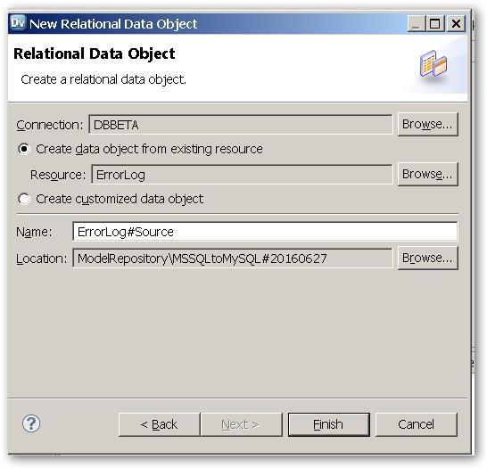 RelationalDataObect-CreateARelationalDataObject