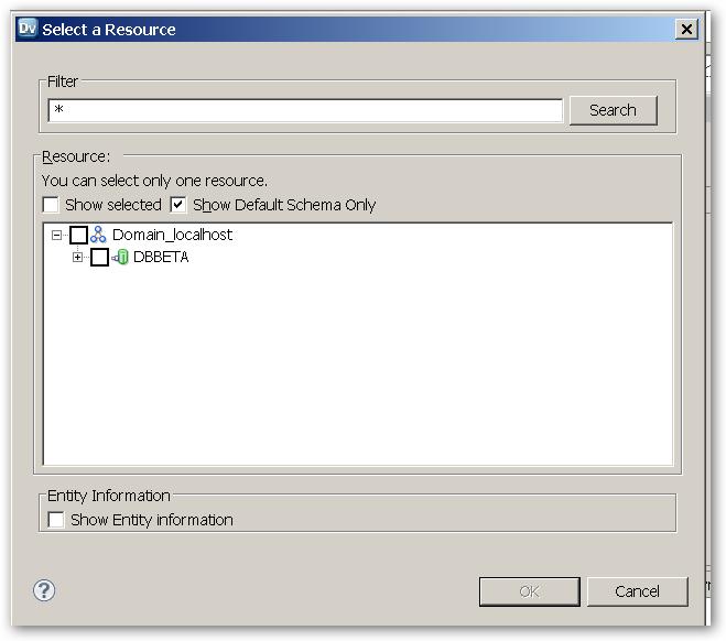 RelationalDataObect-SelectAResource-InitialScreen