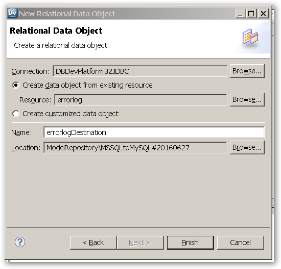 RelationalDataObject - Completed