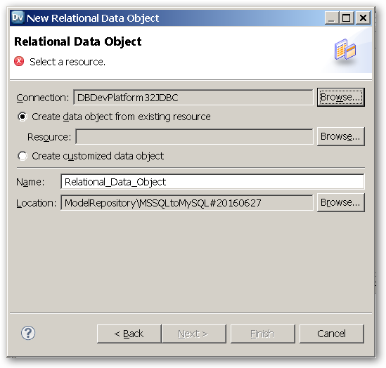 RelationalDataObject - SelectAResource