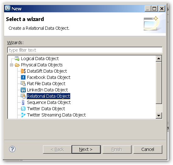 SelectAWizard-RelationalDataObject