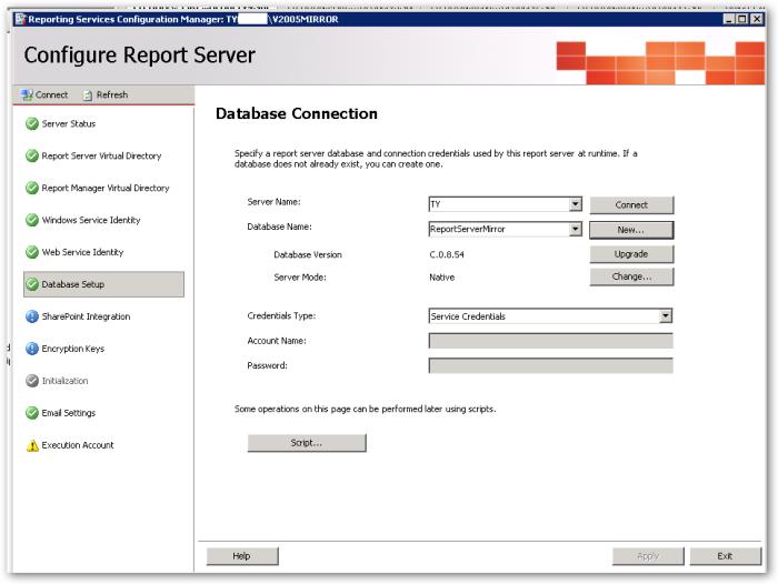 DatabaseSetup-DatabaseConnection