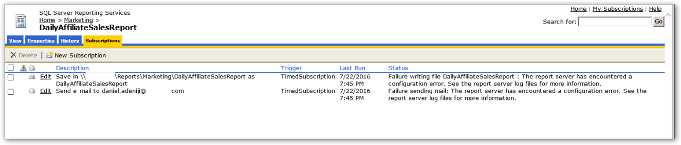 Report-Subscriptions