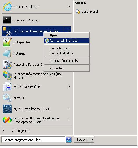 SSMS-RunAsAdministrator ( cropped )