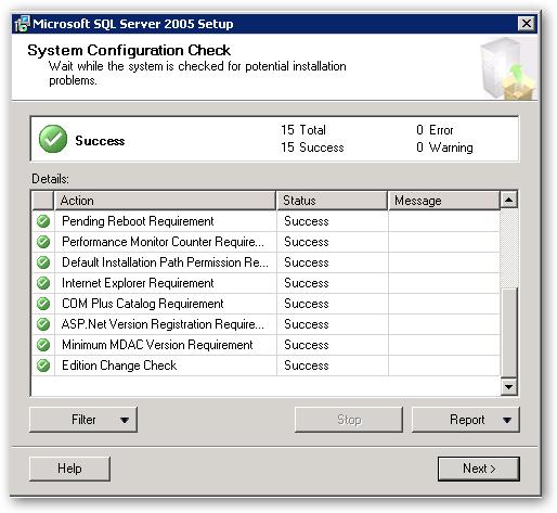 SystemConfigurationCheck