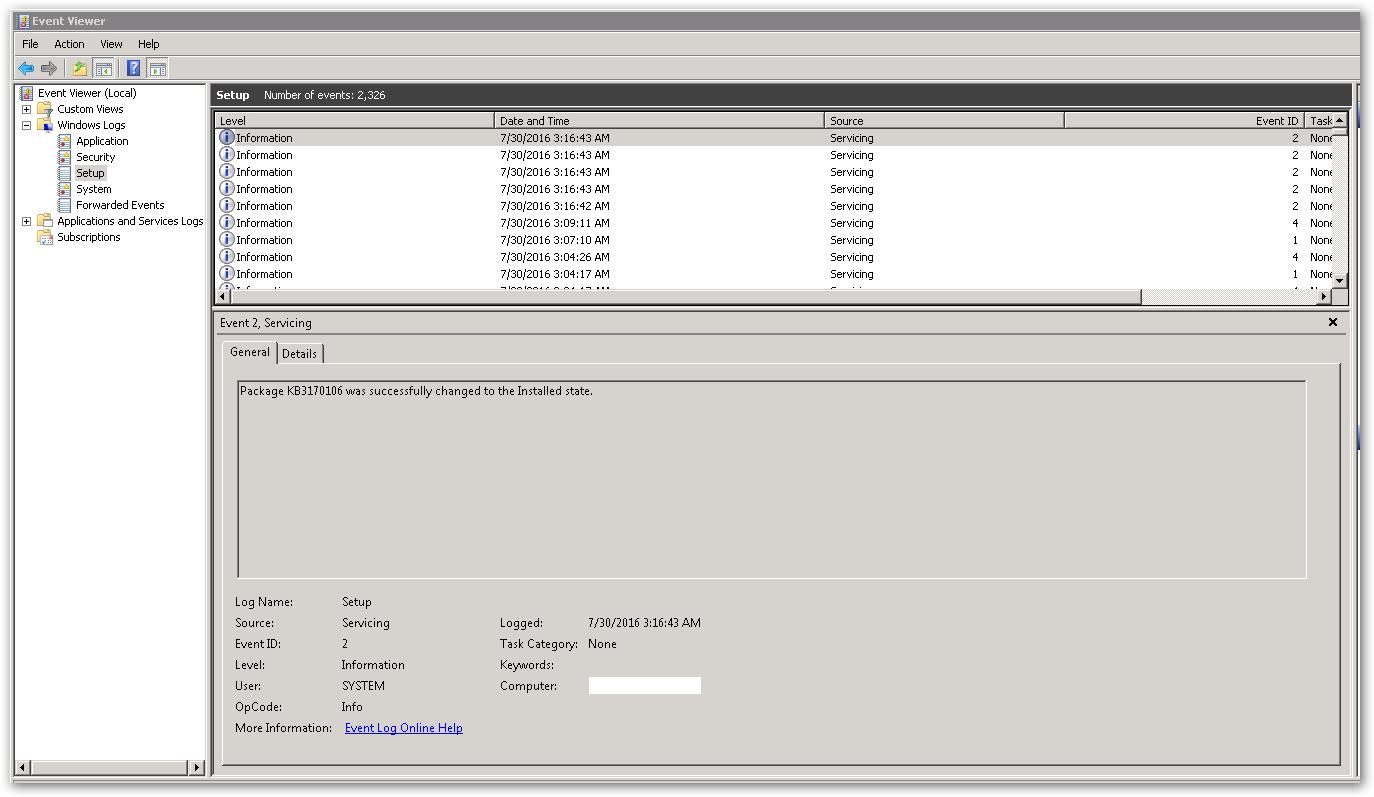 EventViewer-Setup