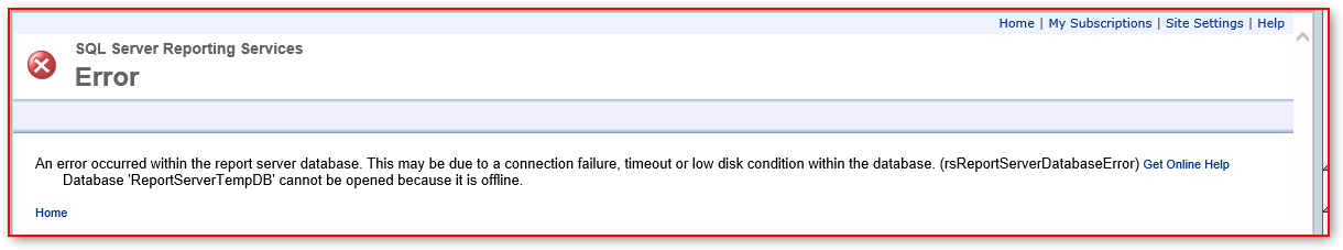 database-reportservertempdb-cannot-be-opene