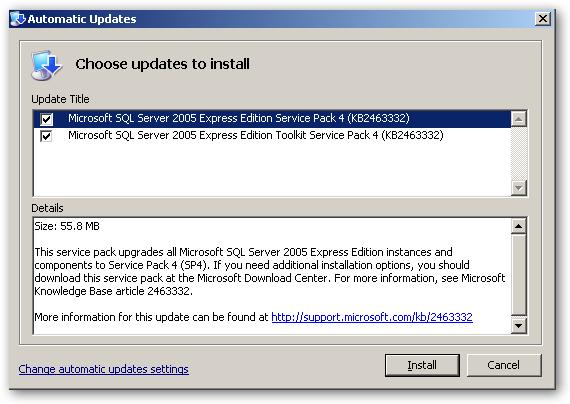 sql server 2005 express edition sp4 free download