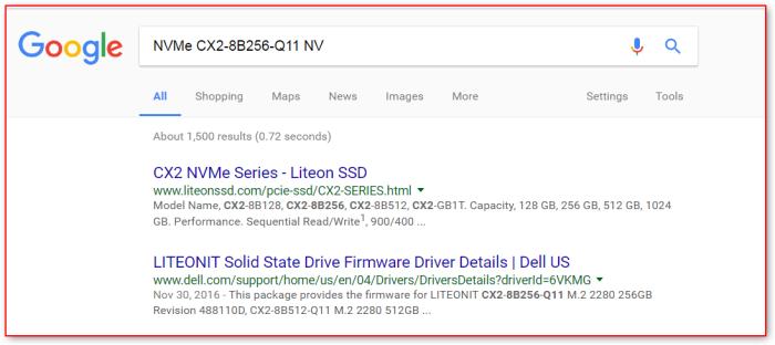 google-nvme-cx2-8b256-q11-nv