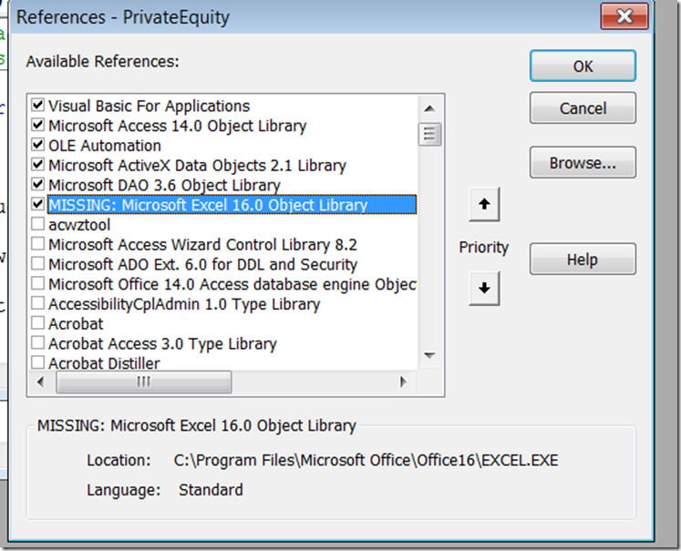 microsoft access 16.0 object library download