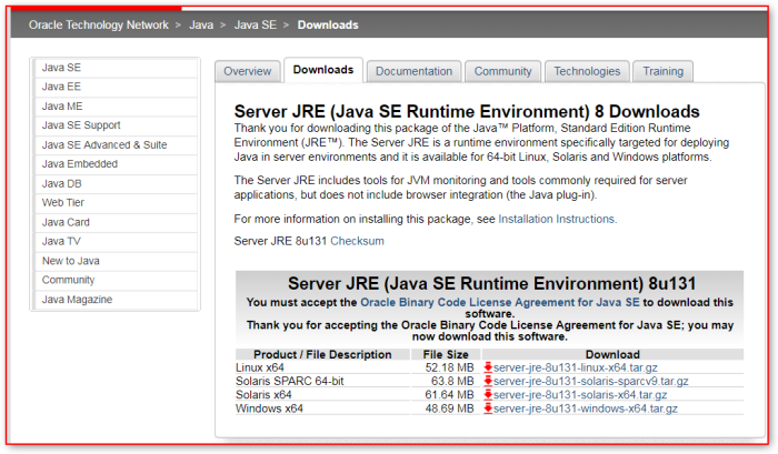 "SQL Server (v2016) – Installation – Blocked – ""Oracle JRE 7 Update"