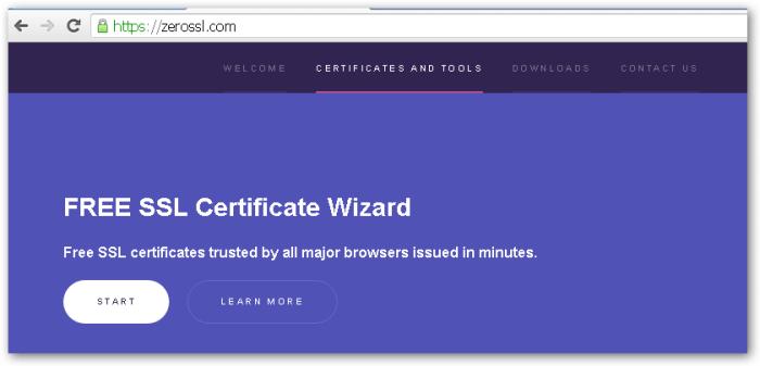 Let's Encrypt – Zero SSL Online Wizard | Learning in the Open
