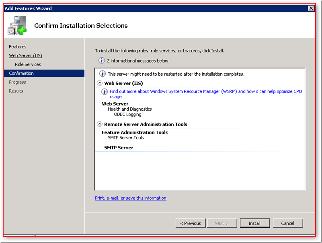 SelectFeatures_SMTP_WebServer_IIS_RoleServices_Confirmation_201708087_0423PM
