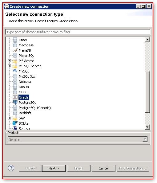 DBeaver – Database Connection Configuration – Oracle – Oracle JDBC