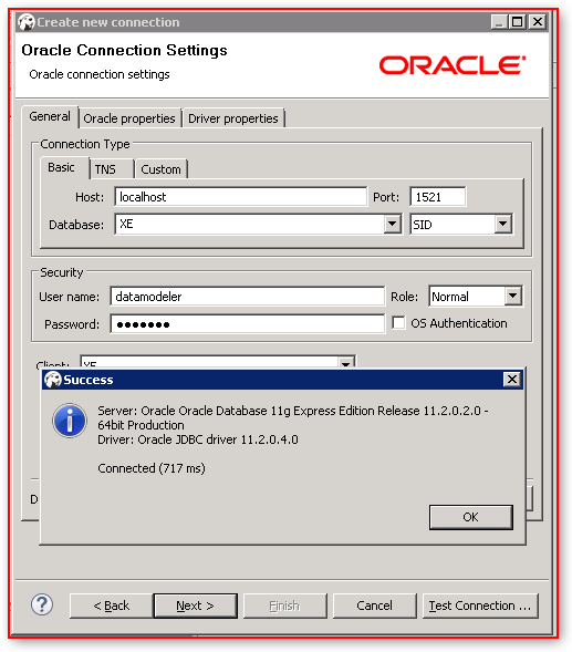 DBeaver – Database Connection Configuration – Oracle – Oracle JDBC