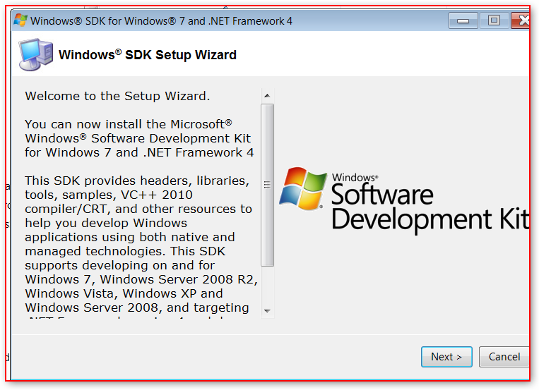 Windows SDK For Windows 7 – Installation | Learning in the Open