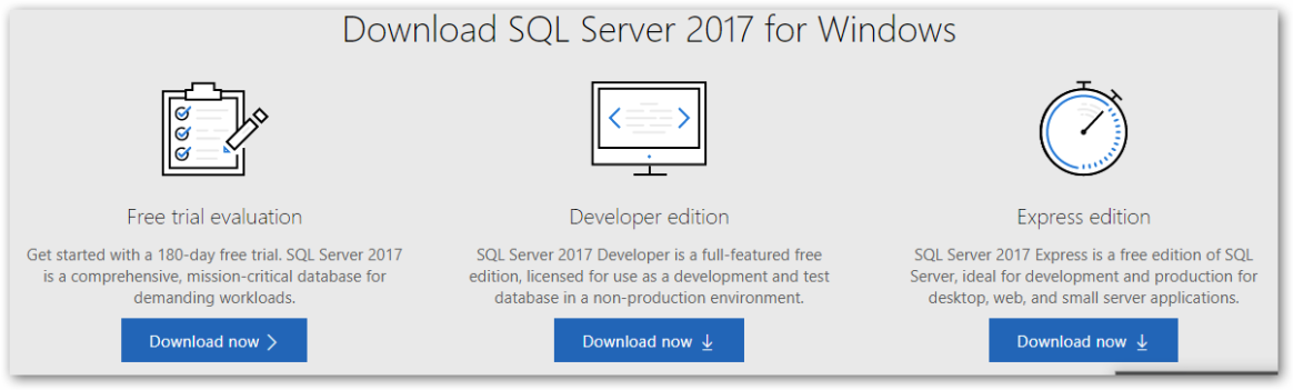 SQL Server 2017 – Developer Edition – ISO | Learning in the Open