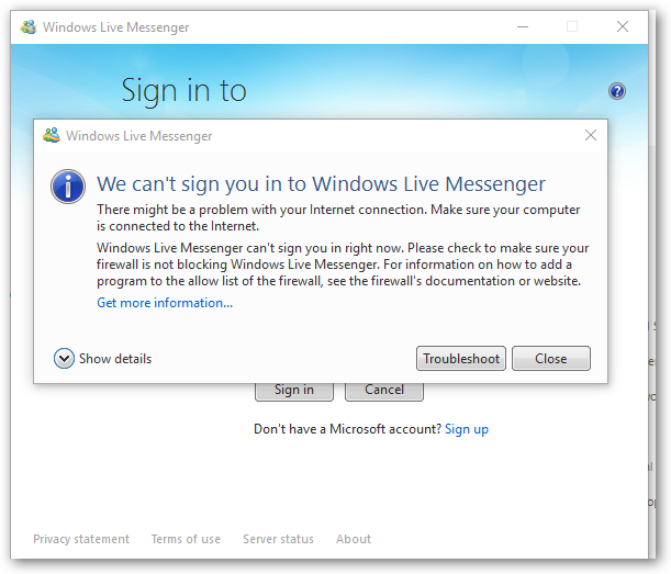 windows live mail error id 0x80194194 learning in the open