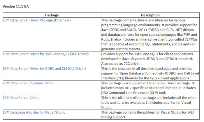 DBeaver – Database Connection Configuration – IBM – DB2