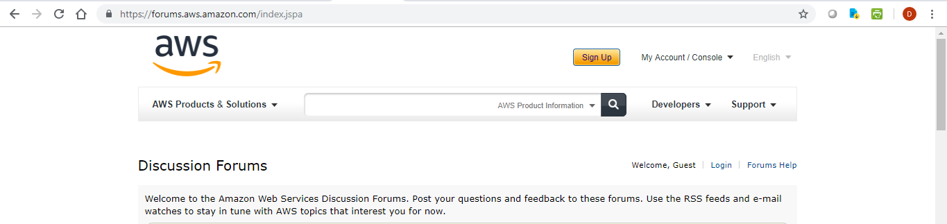 AWS – Discussion Forums – Registration | Learning in the Open