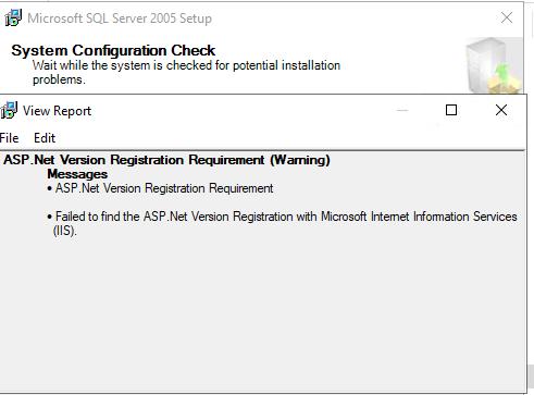sqlServer.v2005.SystemConfigurationCheck.ASPNetRegistration.20190308.0603PM.PNG