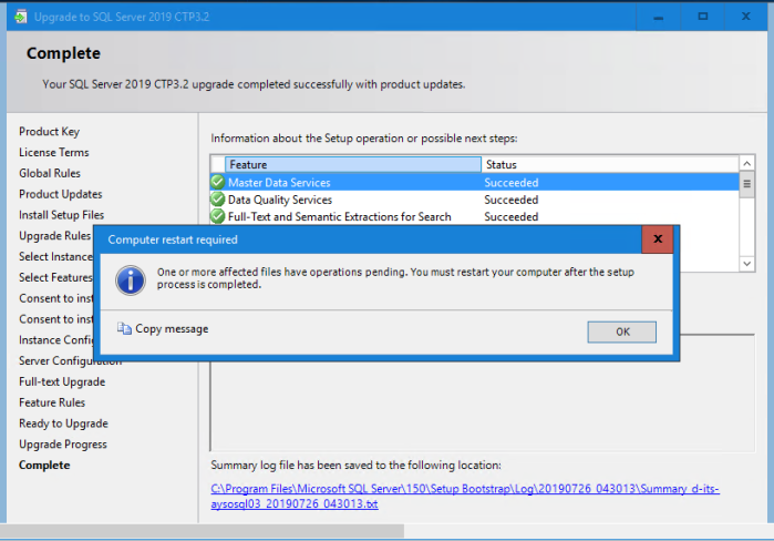 Version ( SQL Server ) | Learning in the Open