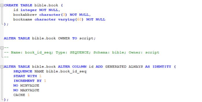 backupandrestore.text.ddl.object.table.bible.book